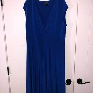 Ralph Lauren Flowy Royal Blue Dress